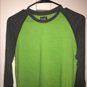 Point Zero Long Sleeve Tee Green Size L